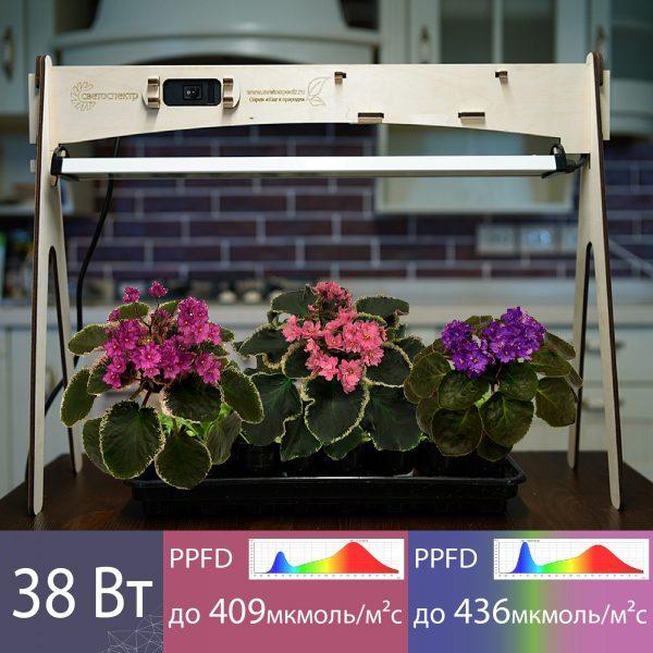 Купить Светодиодный фитосветильник с экостойкой 38 Вт в СПБ с Доставкой. Отправка по РФ